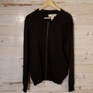 LOGG by H&M full zip black sweater